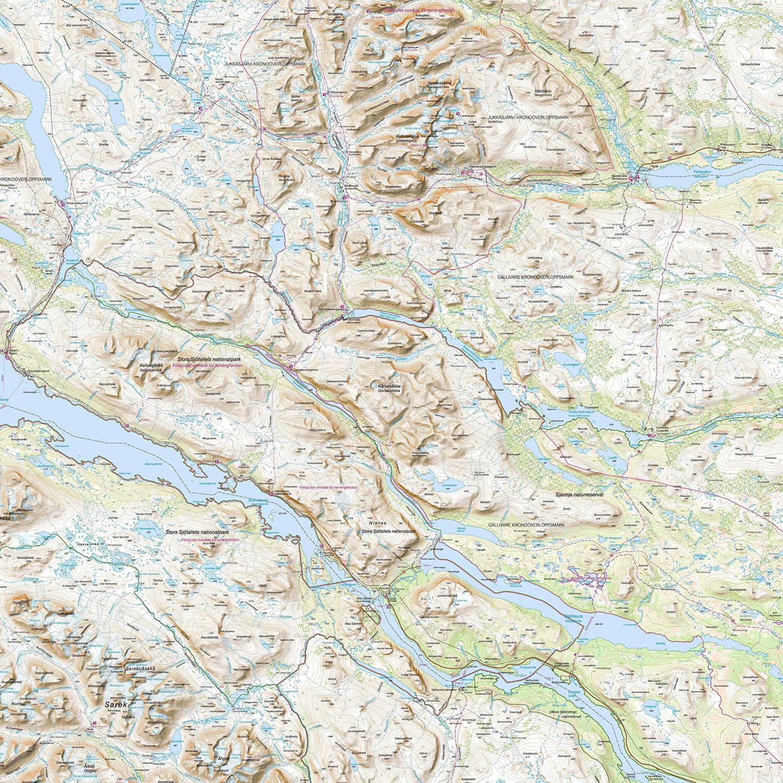 Karta Riksgransen Abisko.Abisko Kebnekaisefjallen Svenska Turistforeningen