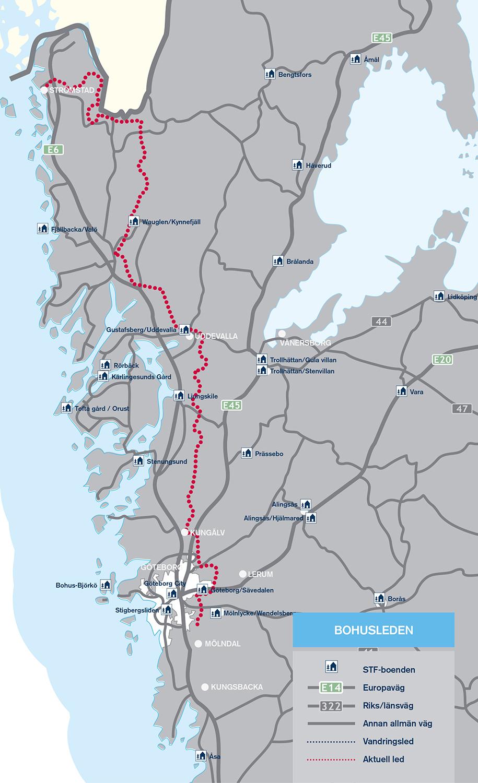 hallandsleden karta Svenska vandringsleder från norr till söder   Wilderness Stories hallandsleden karta