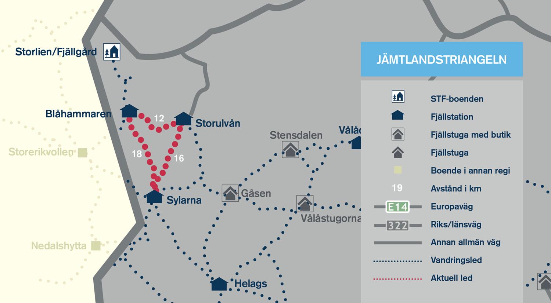 jämtlandstriangeln karta Jämtlandstriangeln   Svenska Turistföreningen jämtlandstriangeln karta