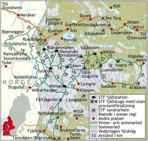 karta sylarna storulvån Sylarna runt   Svenska Turistföreningen karta sylarna storulvån