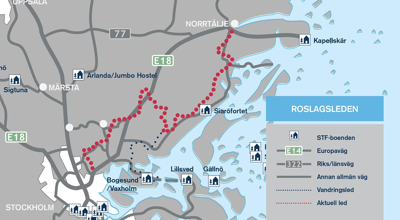 roslagsleden karta grisslehamn Roslagsleden   Svenska Turistföreningen roslagsleden karta grisslehamn