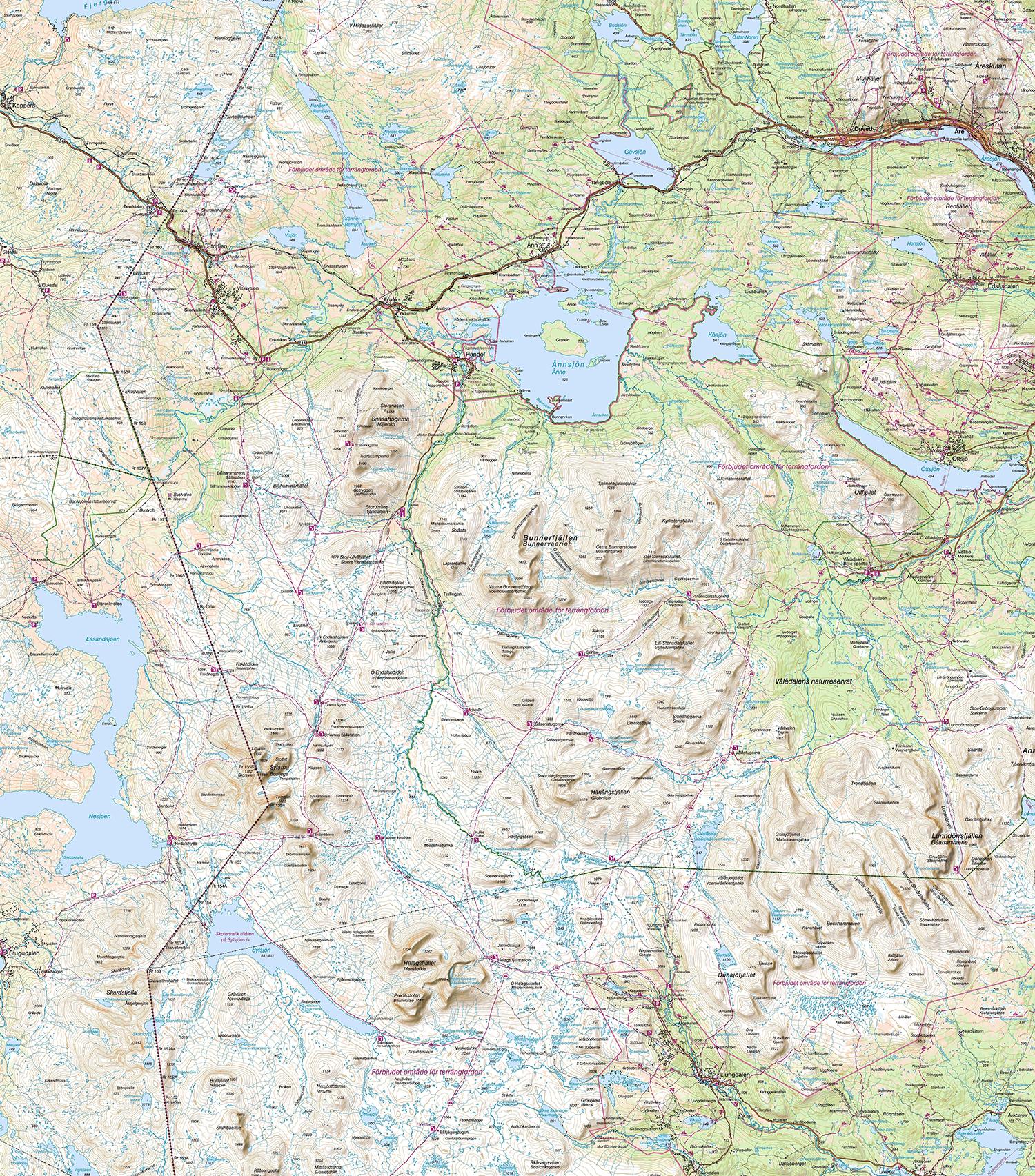 karta sylarna storulvån Jämtlandstriangeln   Svenska Turistföreningen karta sylarna storulvån