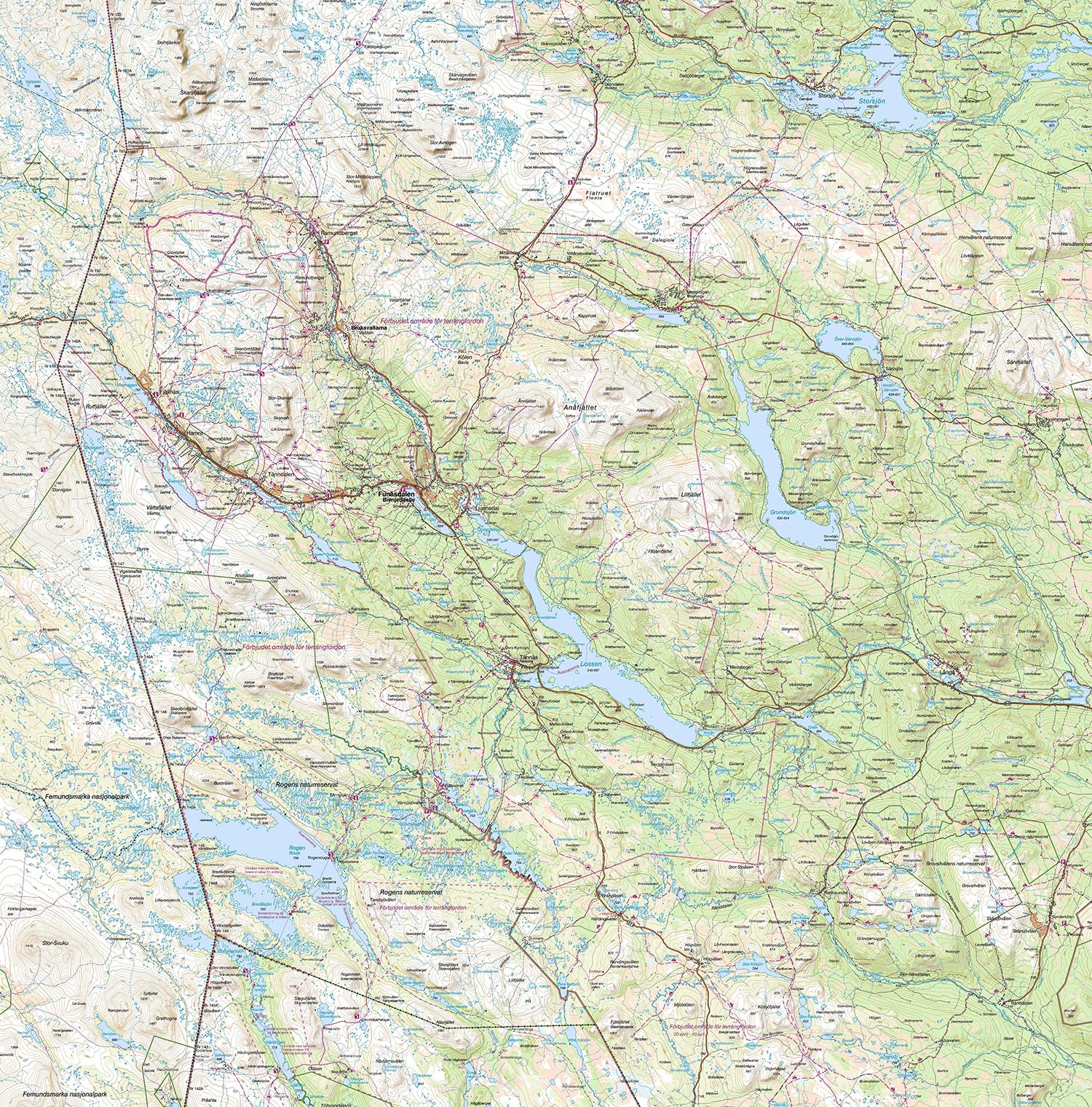 karta z6 Jämtland / Härjedalsfjällen   Svenska Turistföreningen karta z6