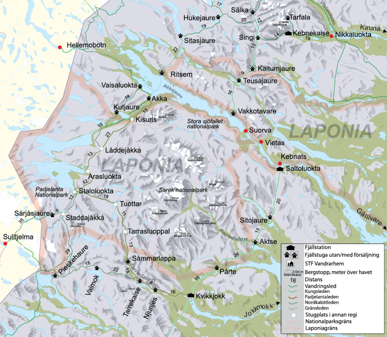 stf vandrarhem karta STF Ritsem   Områdeskarta   Svenska Turistföreningen stf vandrarhem karta